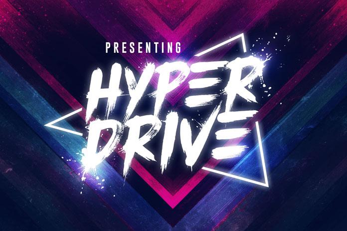hyper drive brush font