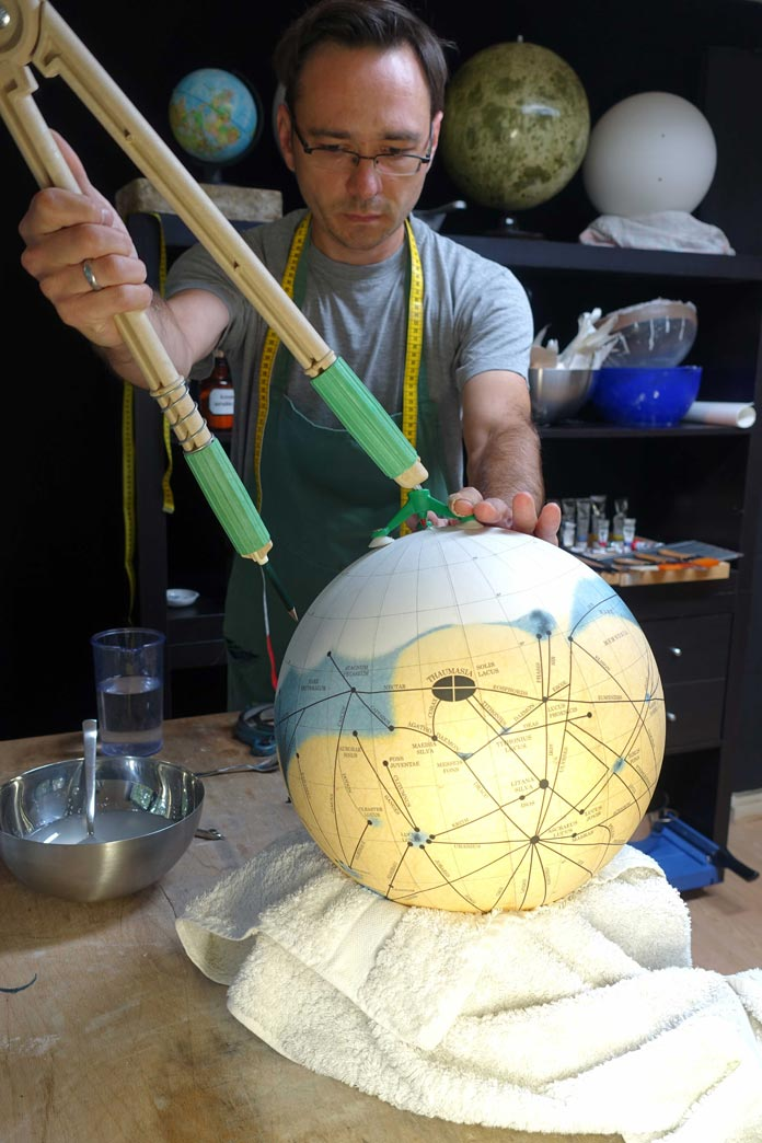 Michael Plichta, one of the last remaining traditional globemakers on earth.