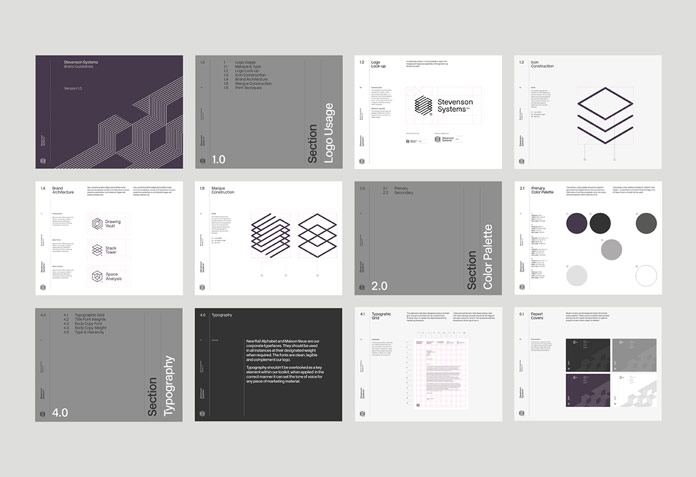 Stevenson Systems – corporate identity guidelines by Socio Design.