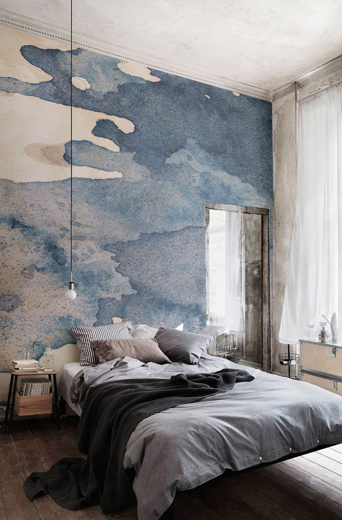 Watercolor wallpapers from murals wallpaper for Designer mural wallpaper