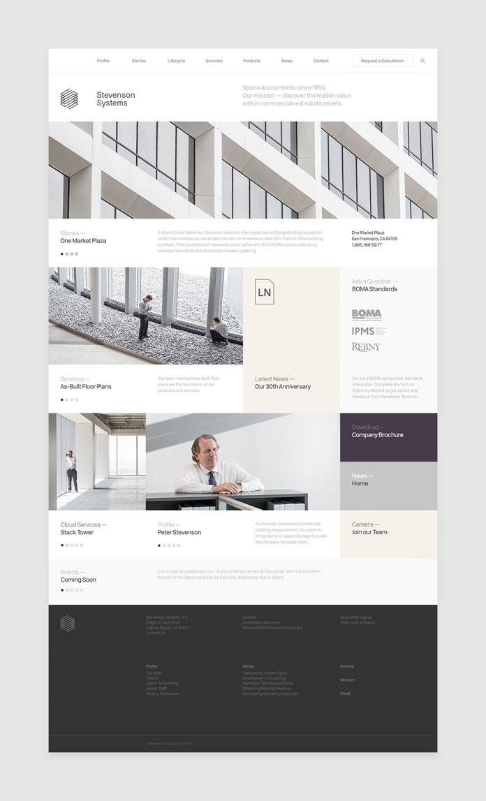Company home page.