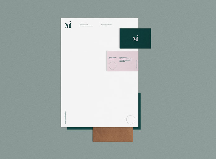 Brand and stationery design by Madelyn Bilsborough.