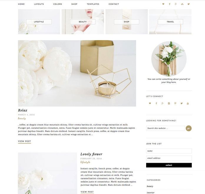 Chic and modern WordPress theme for blogs and magazines.