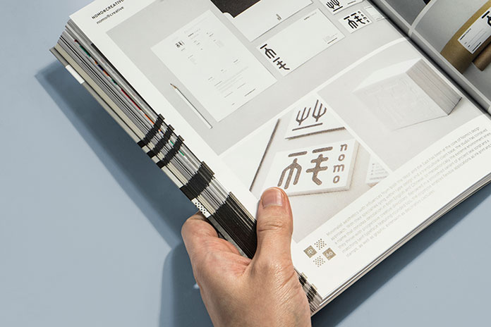 On 256 pages, the book examines multilingual designs.