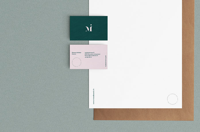 Close up letterheads and business cards.
