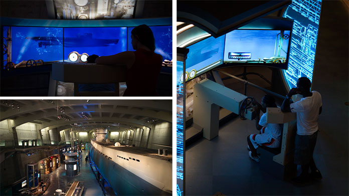 The U 505 submarine dive simulator was developed by agency Leviathan and Luci Creative.