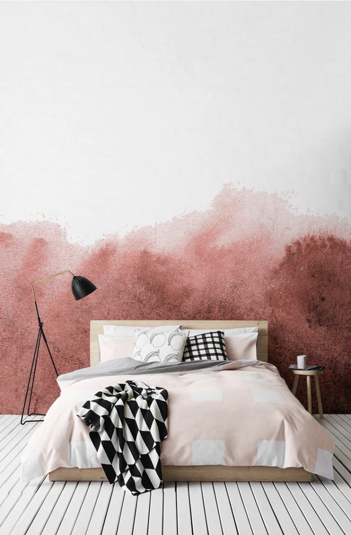 Beautify any room with these super stylish watercolor wallpaper murals.