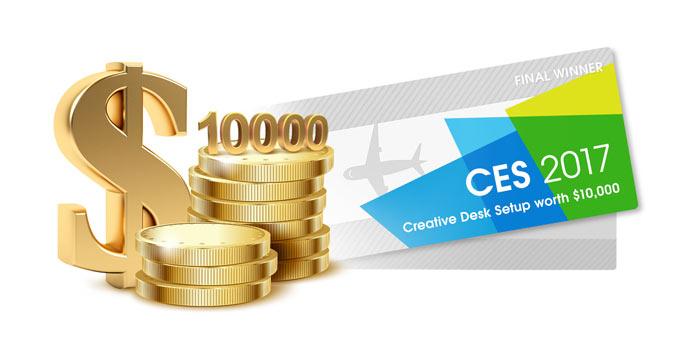 CES 2017 – Creative Desk Setup
