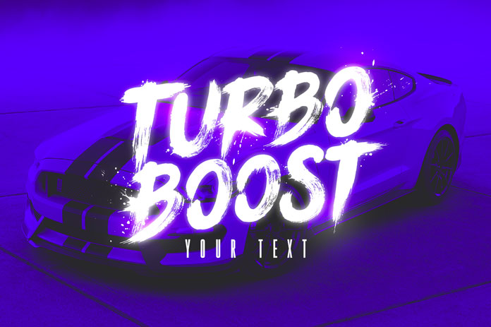 Ignite the turbo boost and give your typographic work a push.