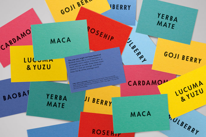 Colorful business cards.