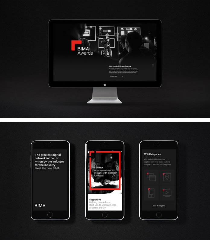 Responsive website design.