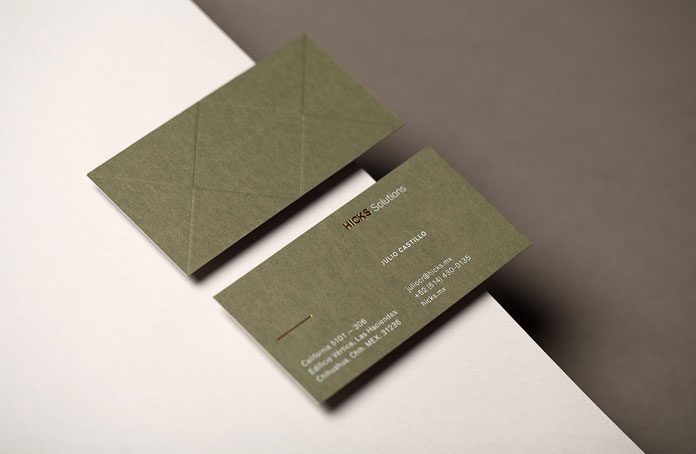 Hicks Solutions – business cards.