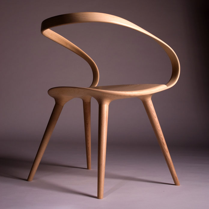 Highly aesthetic and unique furniture design made from ash.