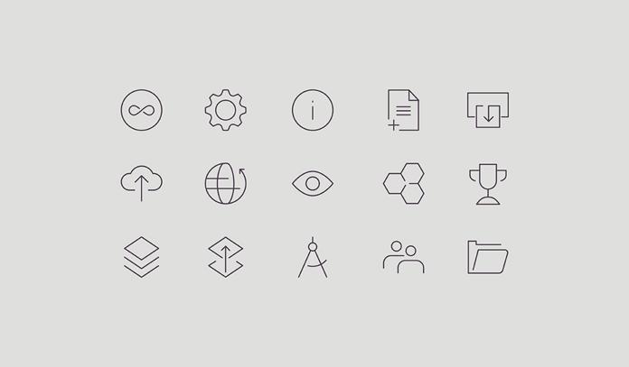Line icons.