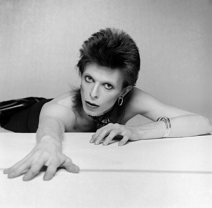 David Bowie On the floor by Terry O'Neill.