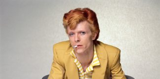 David Bowie photography exhibition by Terry O'Neill at Ransom Art Gallery in London.