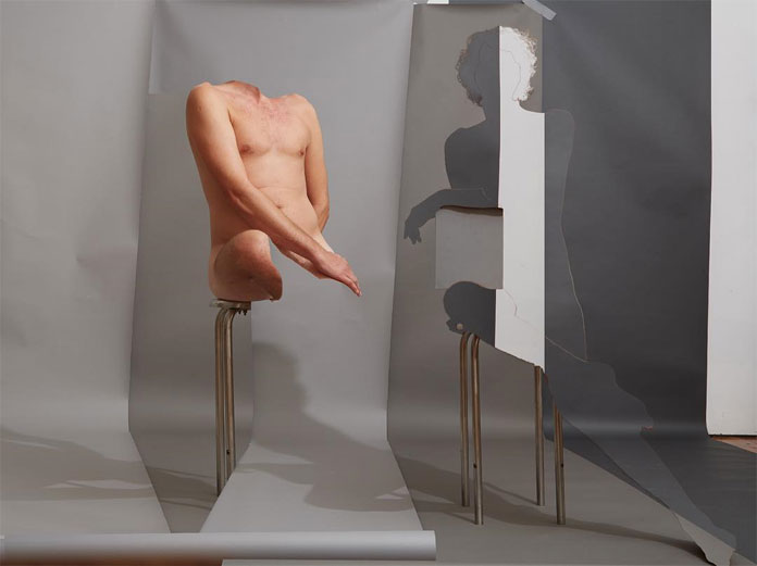 Double self portrait by Bill Durgin.
