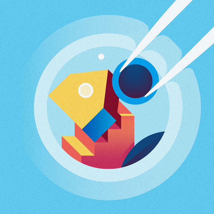Editorial illustration by Ray Oranges for Icon.