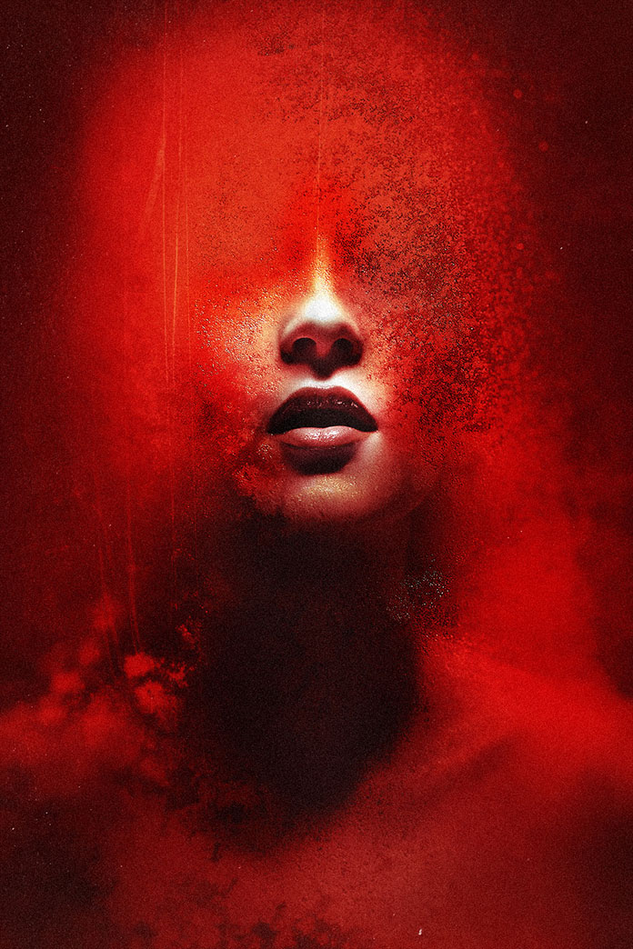 Fear of the dark – digital art by Federico Bebber.