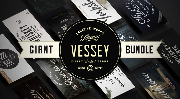 Giant font bundle with 56 fonts in total.