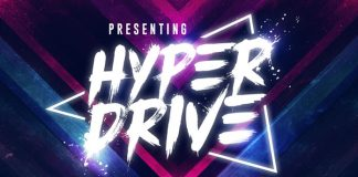 Hyper Drive brush font.