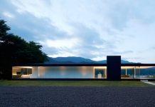 Lakeside house in Yamanashi, Japan.