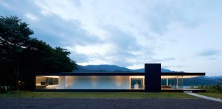 Lakeside house in Yamanashi, Japan.