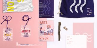 Black River Festival stationery set.