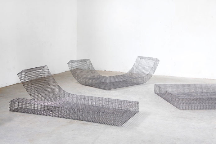 Lounger collection Wire S by studio Muller van Severen.