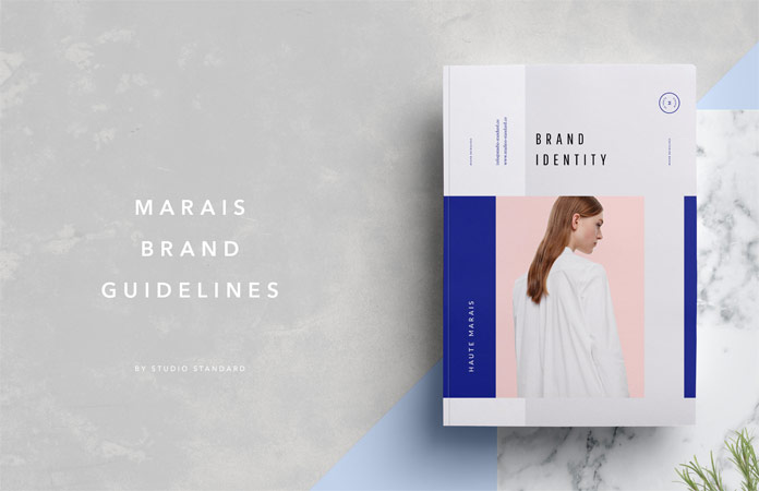 Marais guidelines and brand sheet from Studio Standard.