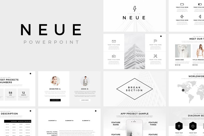 how to create power point template - neue minimalist powerpoint template