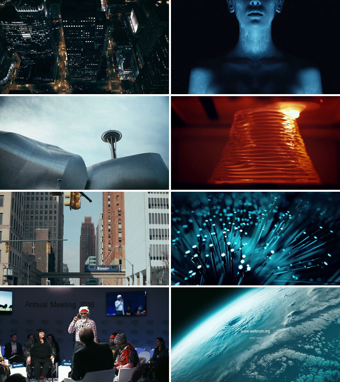 "Stills from the documentary: ""The Fourth Industrial Revolution."""
