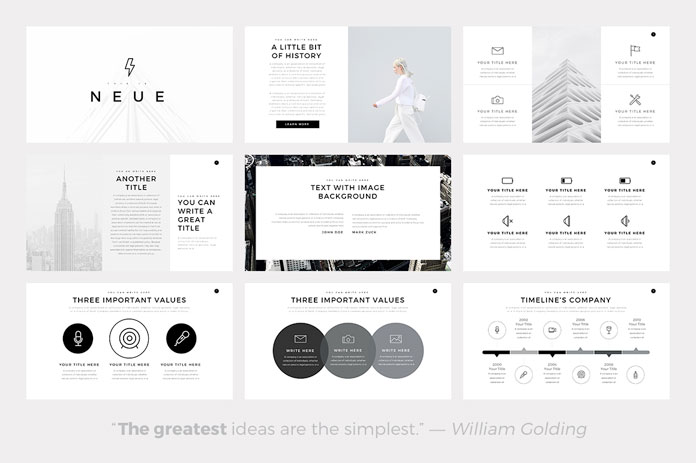 Neue minimalist powerpoint template countless possibilities toneelgroepblik Image collections