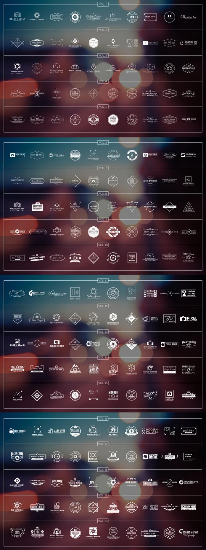 200 photography logos.