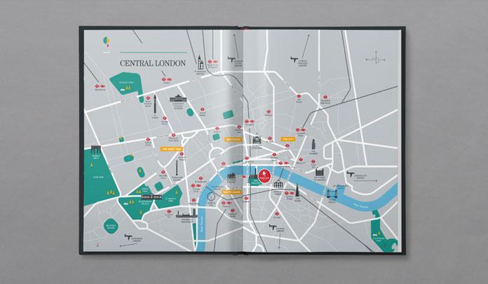 London map illustration.