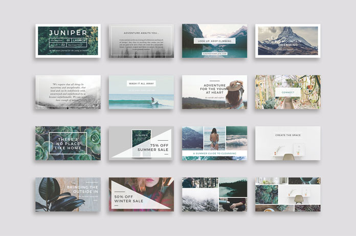 Rectangle templates optimized for Facebook shared links.
