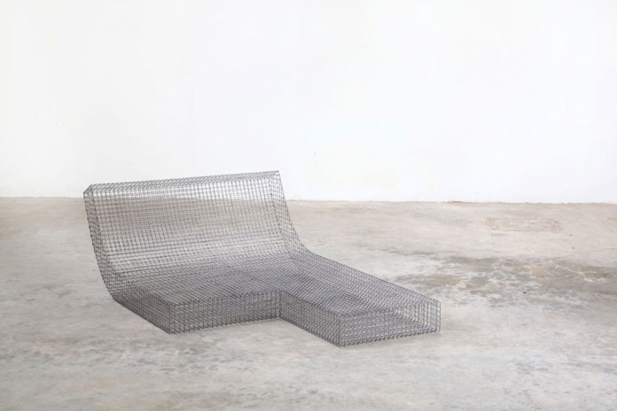 Unique wire mesh interior.