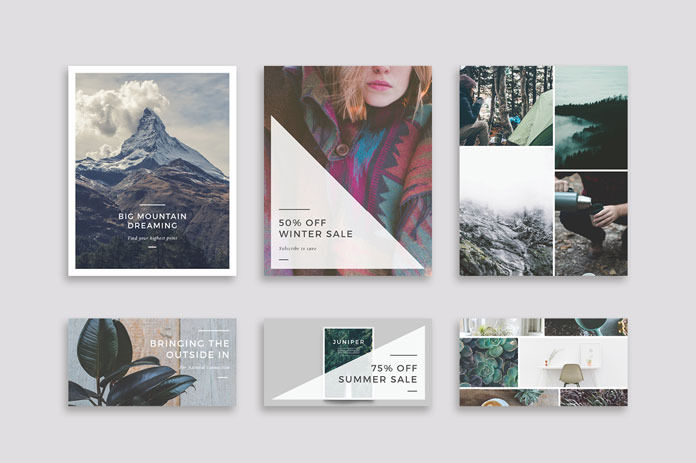 Simple posts, sales and advertising, mood boards.