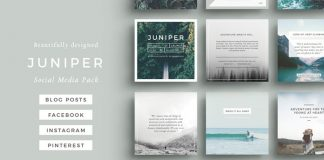 Juniper – social media pack templates.