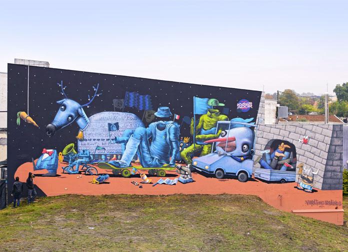 LA CAROTTE – mural for Vibrations urbaines, Bordeaux, 2015.