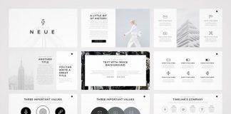 Neue – minimalist PowerPoint template