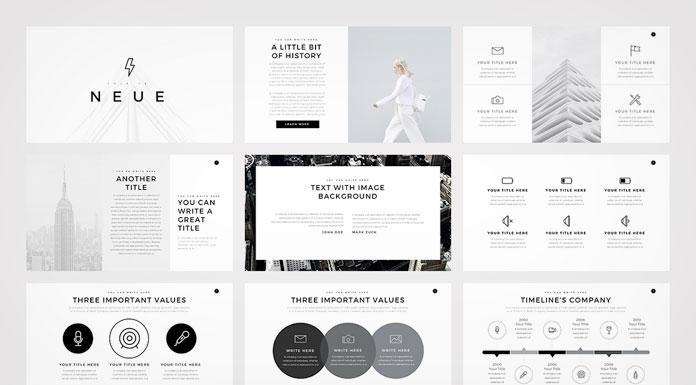 neue  minimalist powerpoint template, Powerpoint
