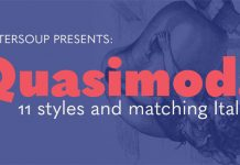 Quasimoda font family by Botio Nikoltchev of Lettersoup.