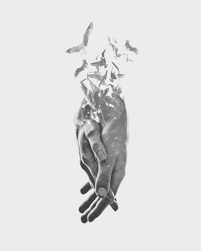 Sweet nothing, a digitally made double exposure piece.
