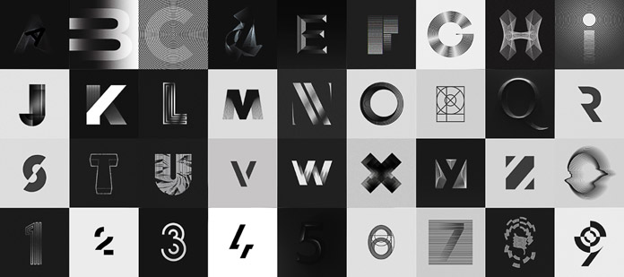 36 Days of Type – design submissions by Stefan Hürlemann.
