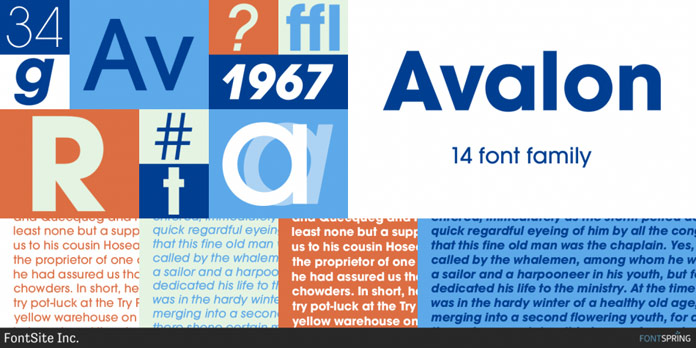 Avalon font family from FontSite Inc.