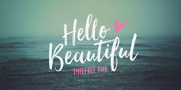 Hello Beautiful typeface duo by Nicky Laatz.