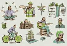 Illustrations by Andrew Fairclough for Australian supermarket chain Woolworths Metro.