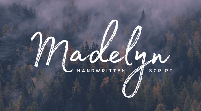 Madelyn typeface from Fontfabric.