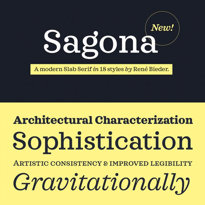 Sagona font family by Rene Bieder.